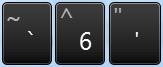 Deze toetsen gebruikt u voor trema's en accenten